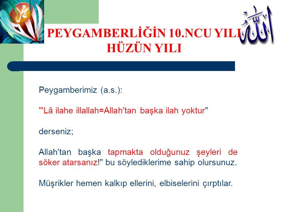 PEYGAMBERLİĞİN 10.NCU YILI