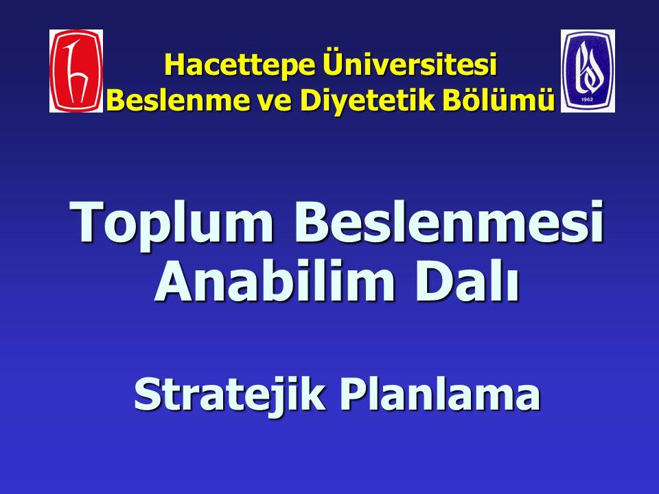 Hacettepe Üniversitesi Beslenme ve Diyetetik Bölümü