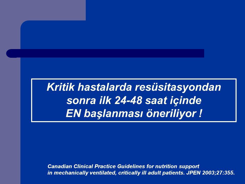 Kritik hastalarda resüsitasyondan EN başlanması öneriliyor !