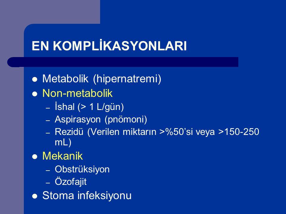 EN KOMPLİKASYONLARI Metabolik (hipernatremi) Non-metabolik Mekanik