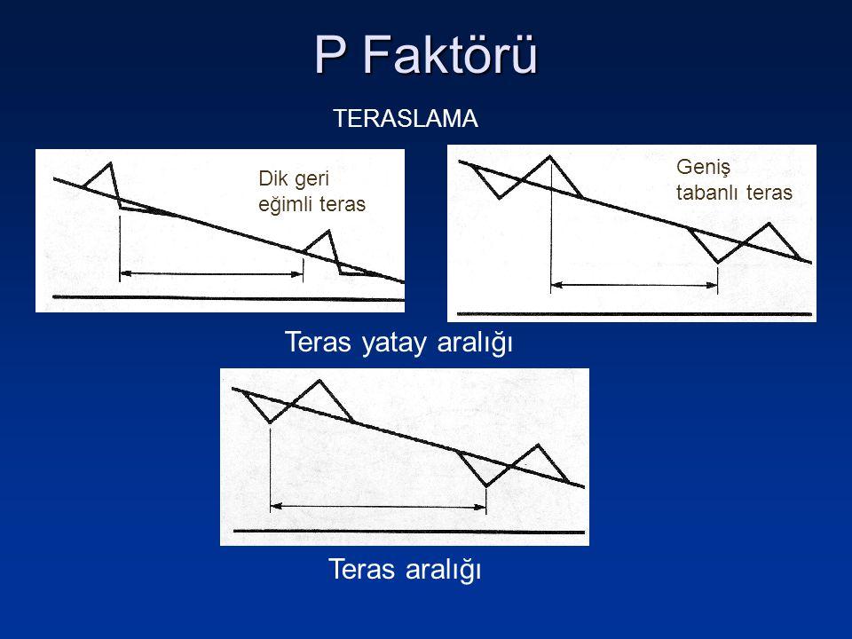 P Faktörü Teras yatay aralığı Teras aralığı TERASLAMA