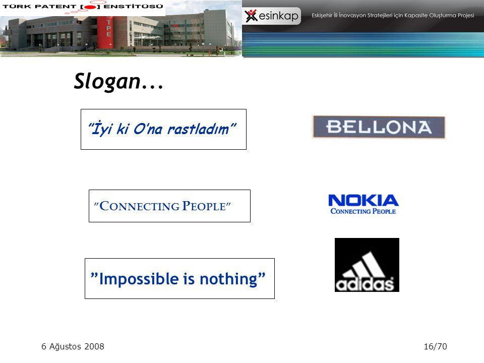 Slogan... Impossible is nothing İyi ki O'na rastladım