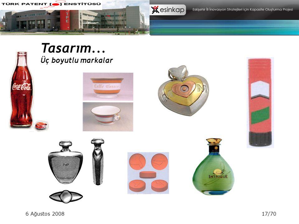 Tasarım... Üç boyutlu markalar 6 Ağustos 2008