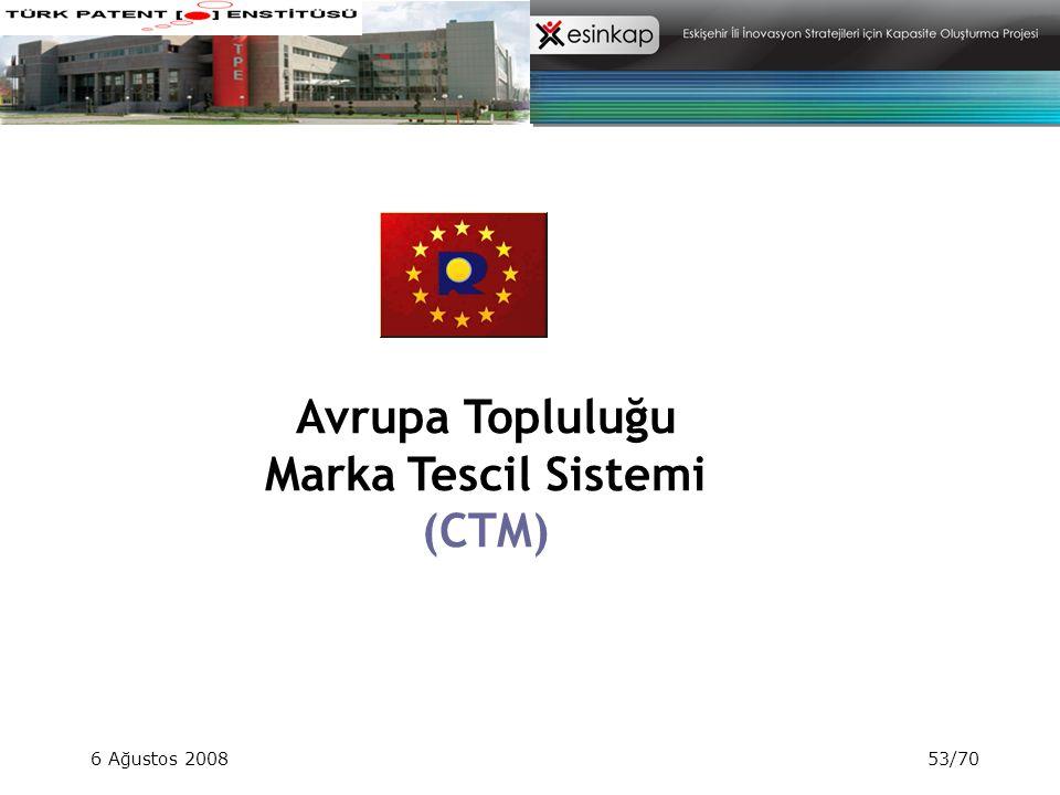 Avrupa Topluluğu Marka Tescil Sistemi (CTM)