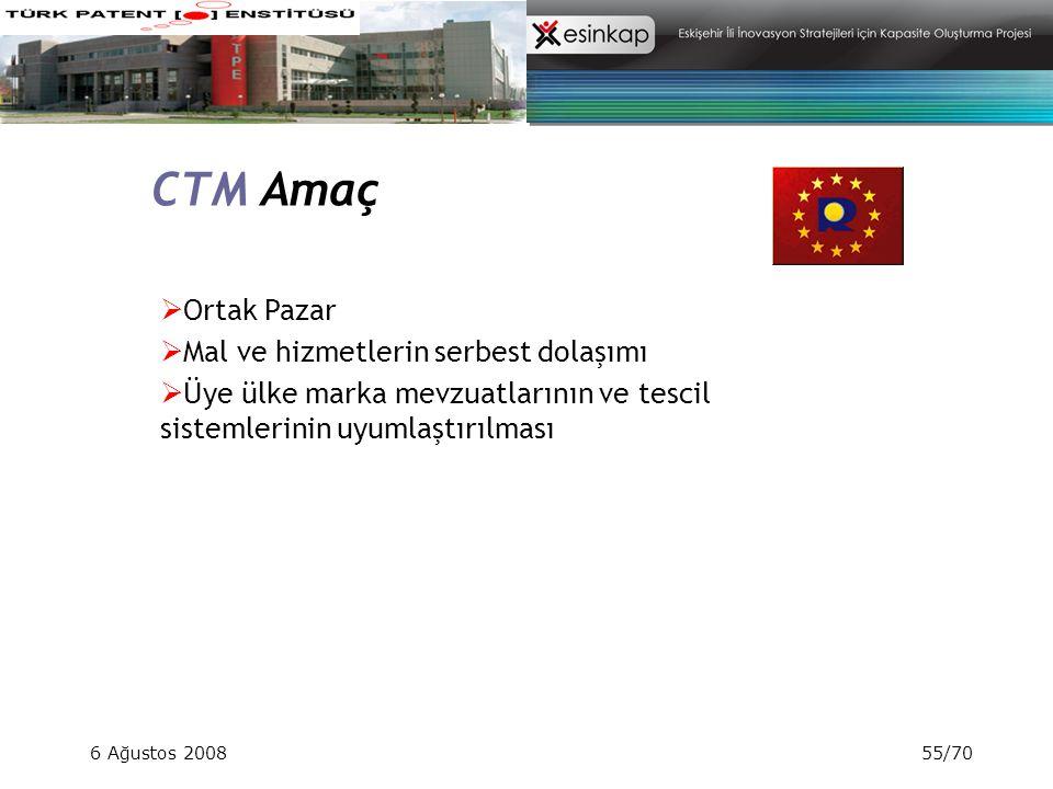 CTM Amaç Ortak Pazar Mal ve hizmetlerin serbest dolaşımı