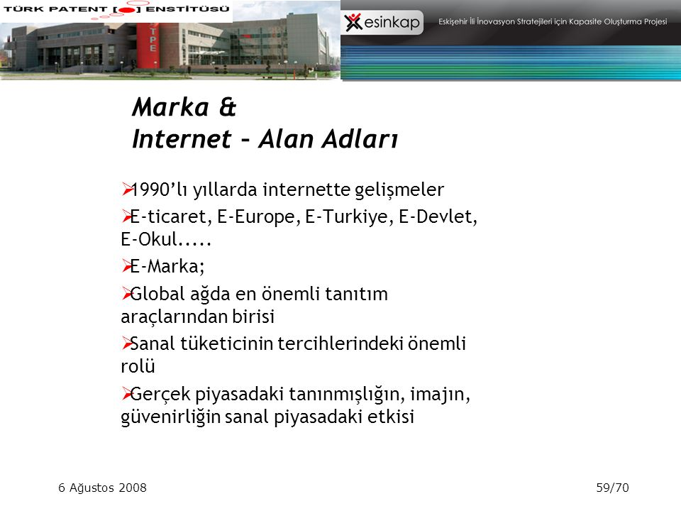 Marka & Internet – Alan Adları