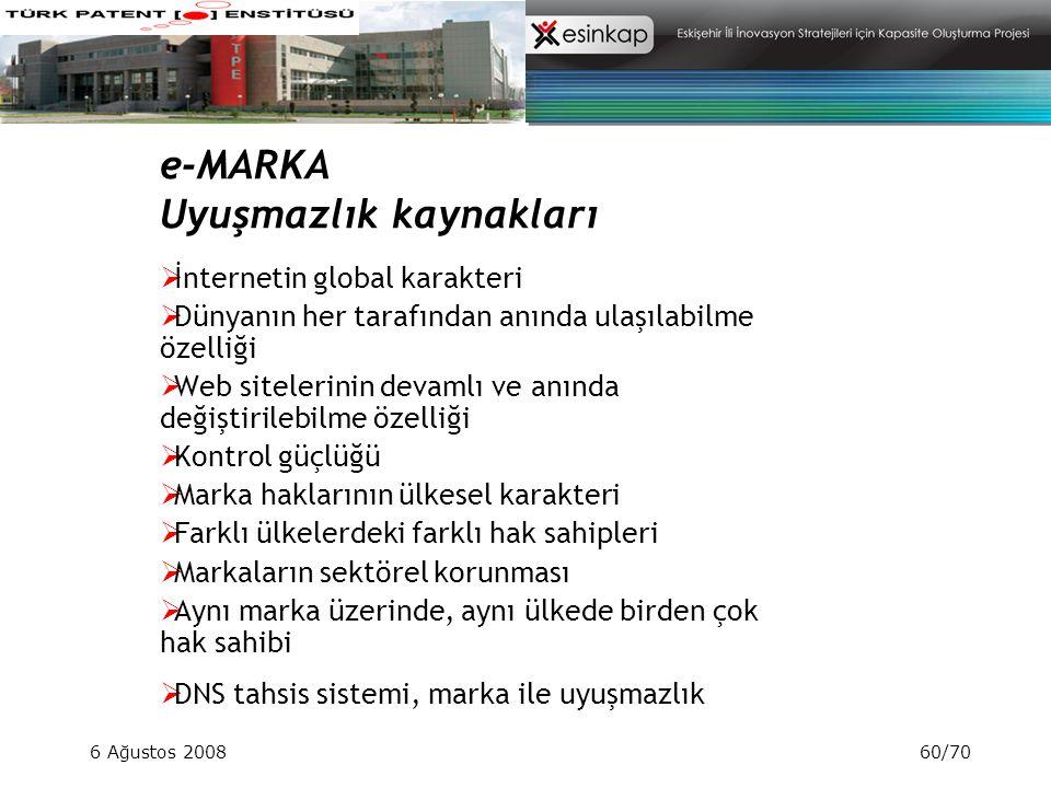 e-MARKA Uyuşmazlık kaynakları