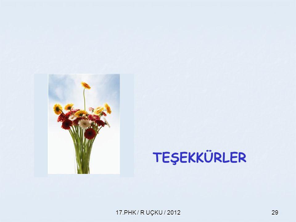 TEŞEKKÜRLER 17.PHK / R UÇKU / 2012
