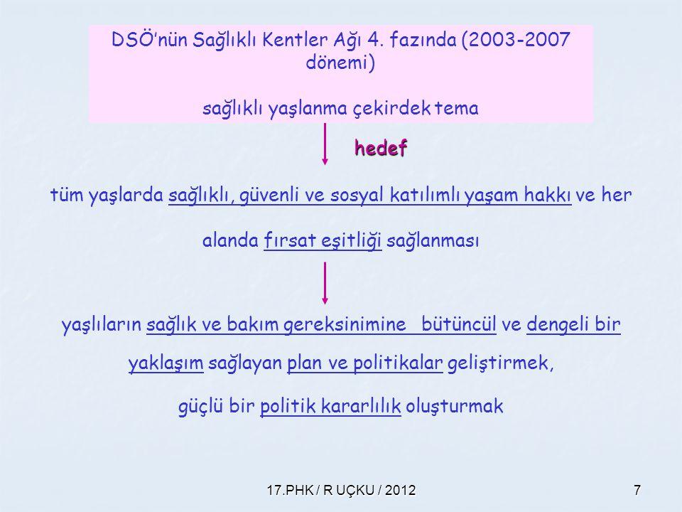 DSÖ'nün Sağlıklı Kentler Ağı 4. fazında (2003-2007 dönemi)