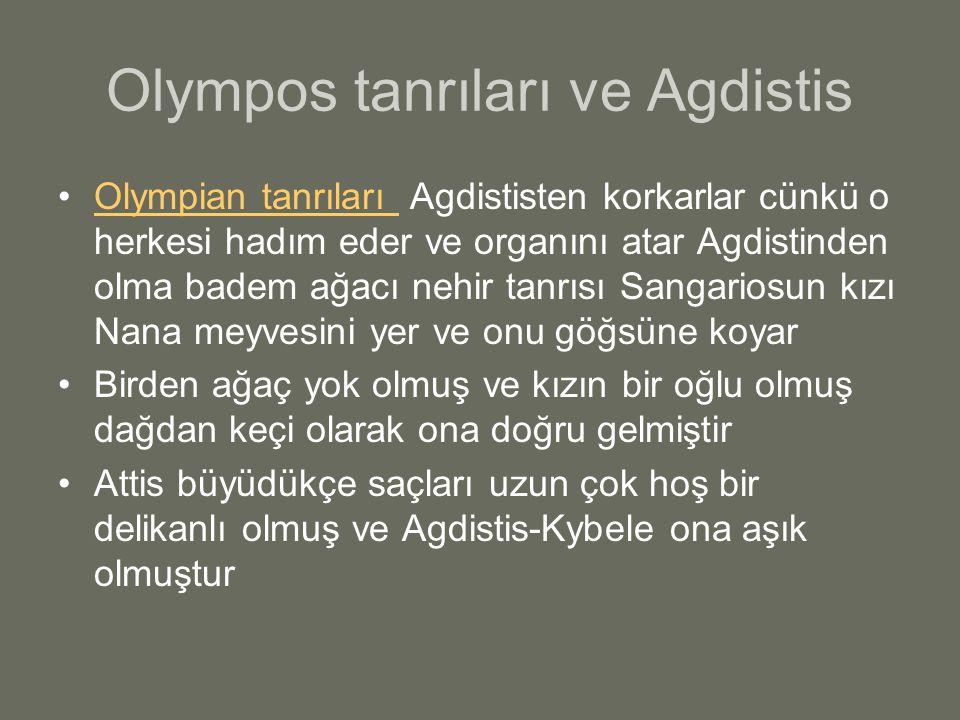 Olympos tanrıları ve Agdistis