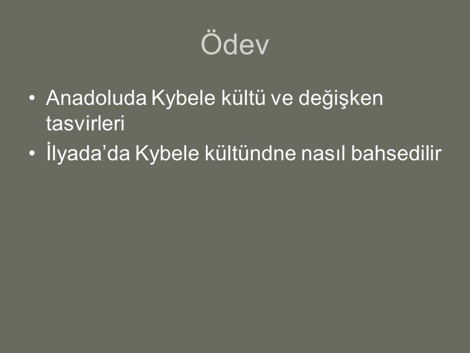 Ödev Anadoluda Kybele kültü ve değişken tasvirleri