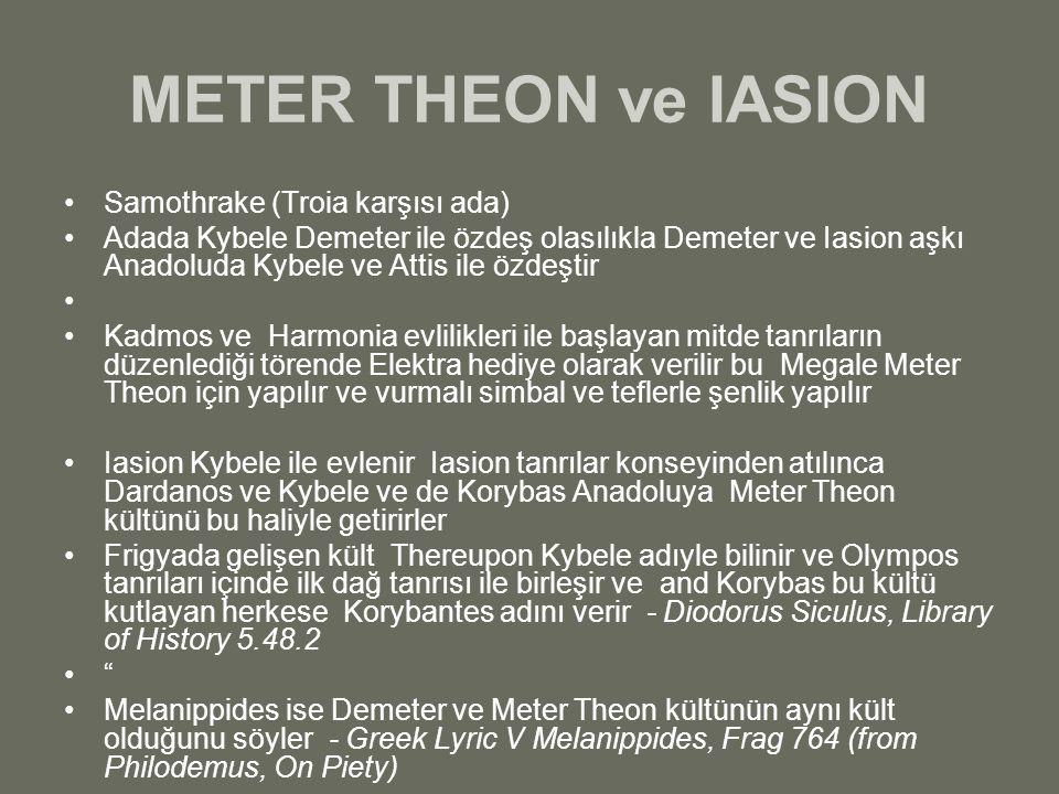 METER THEON ve IASION Samothrake (Troia karşısı ada)