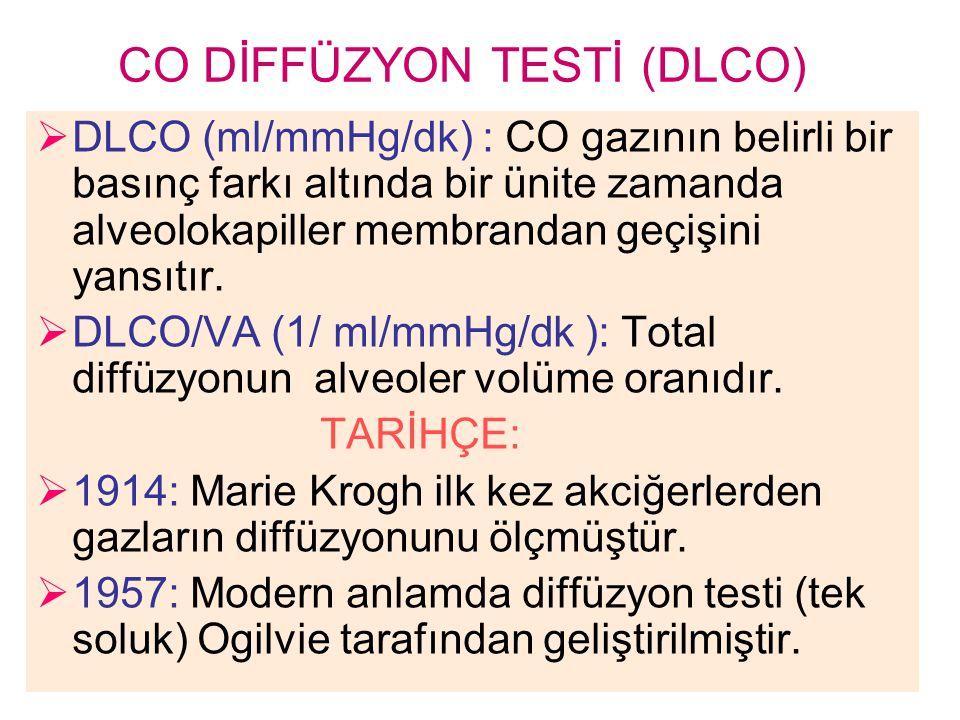 CO DİFFÜZYON TESTİ (DLCO)