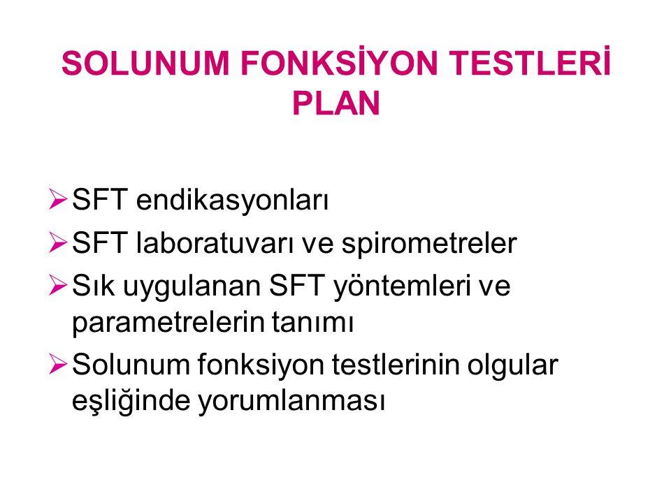 SOLUNUM FONKSİYON TESTLERİ PLAN