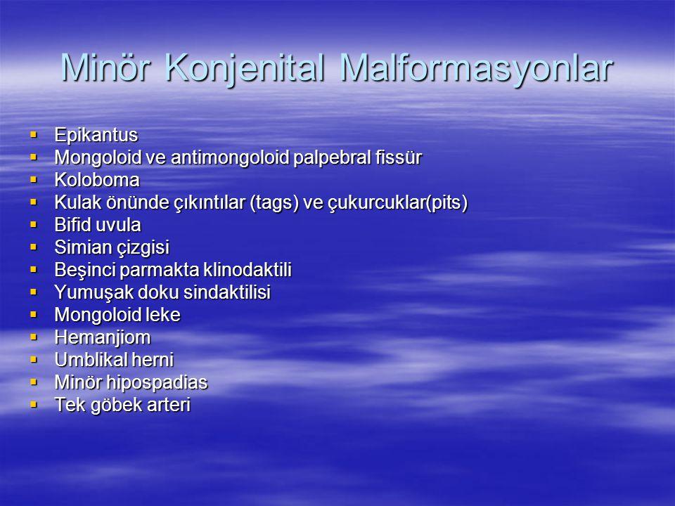 Minör Konjenital Malformasyonlar