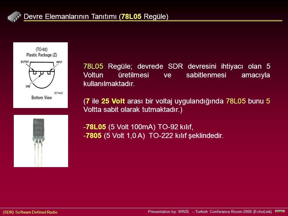 Devre Elemanlarının Tanıtımı (78L05 Regüle)