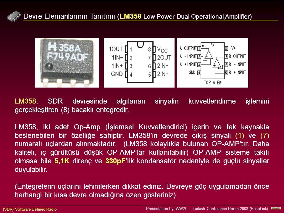 Devre Elemanlarının Tanıtımı (LM358 Low Power Dual Operational Amplifier)