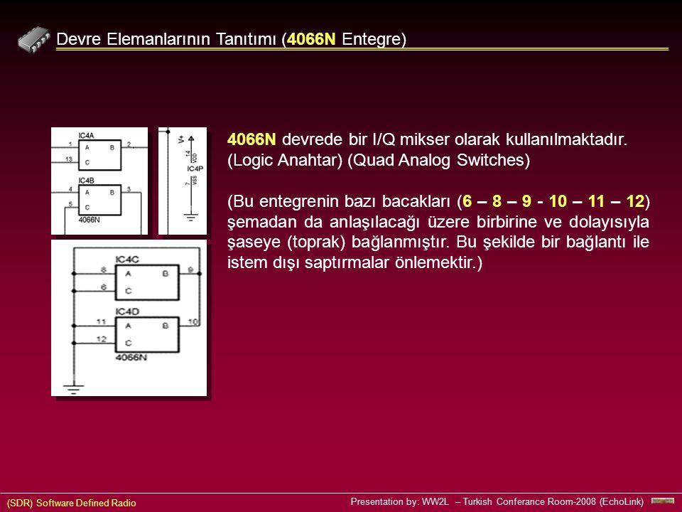 Devre Elemanlarının Tanıtımı (4066N Entegre)