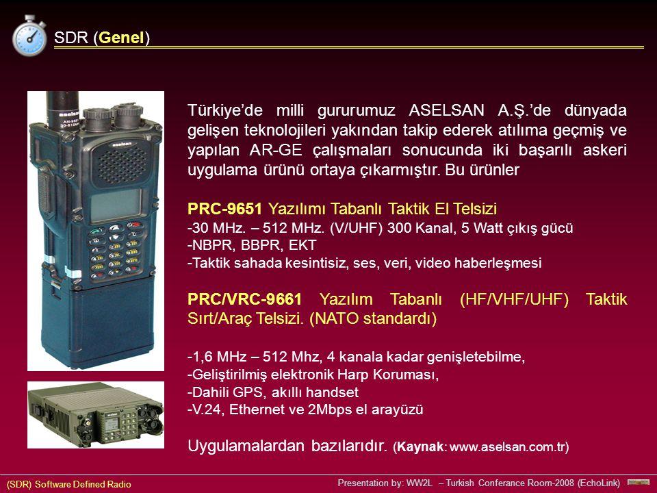 PRC-9651 Yazılımı Tabanlı Taktik El Telsizi