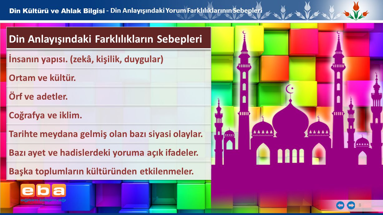 Din Anlayışındaki Farklılıkların Sebepleri