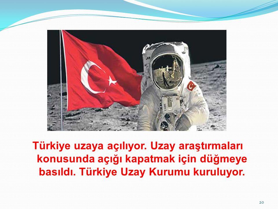Türkiye uzaya açılıyor