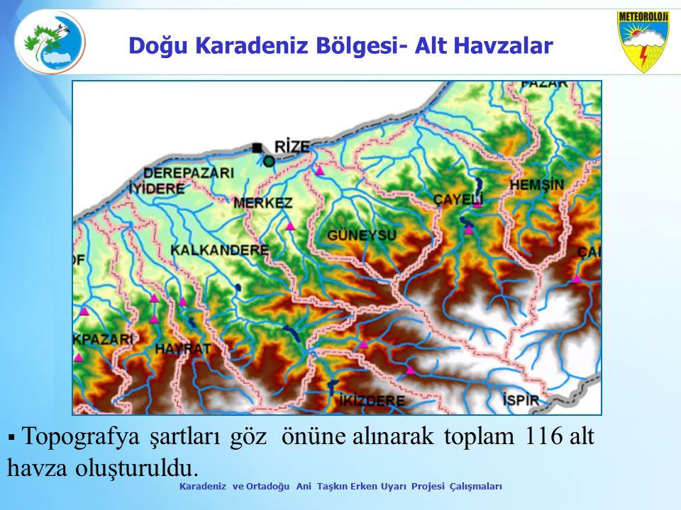 Doğu Karadeniz Bölgesi- Alt Havzalar