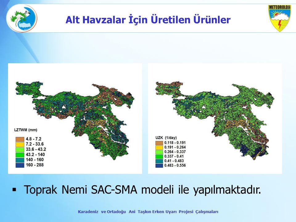 Toprak Nemi SAC-SMA modeli ile yapılmaktadır.