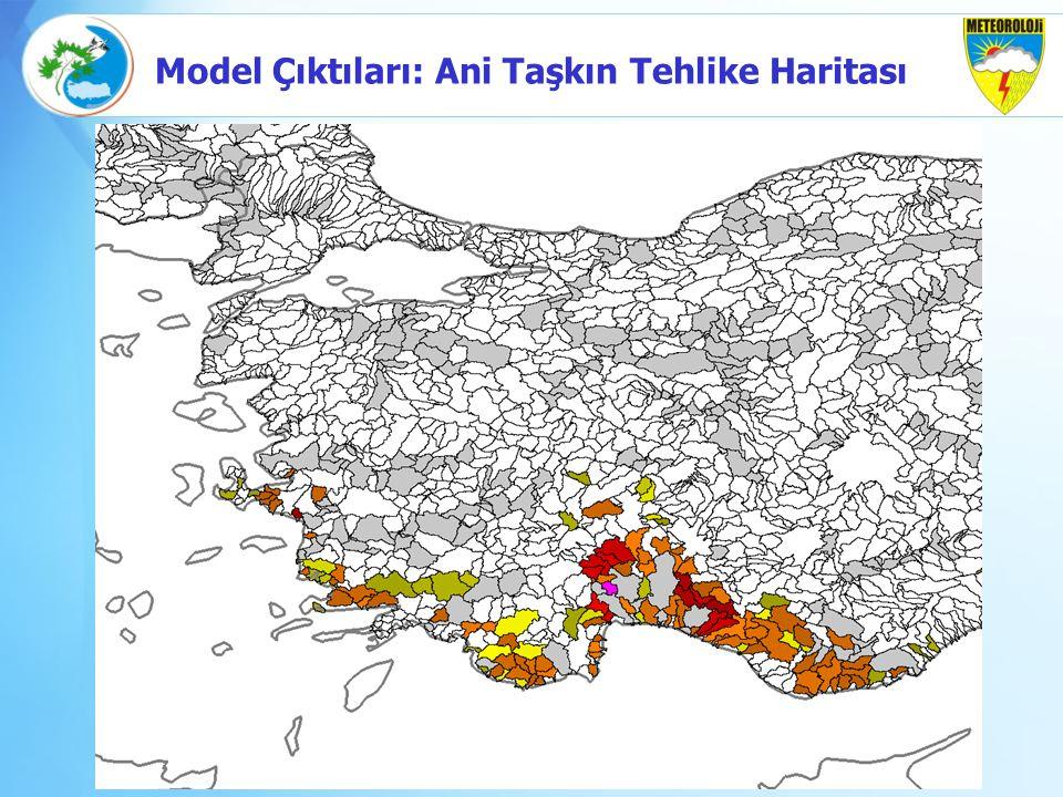Model Çıktıları: Ani Taşkın Tehlike Haritası