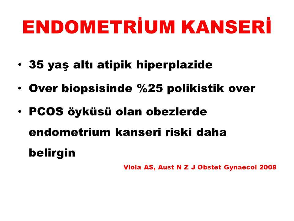 ENDOMETRİUM KANSERİ 35 yaş altı atipik hiperplazide