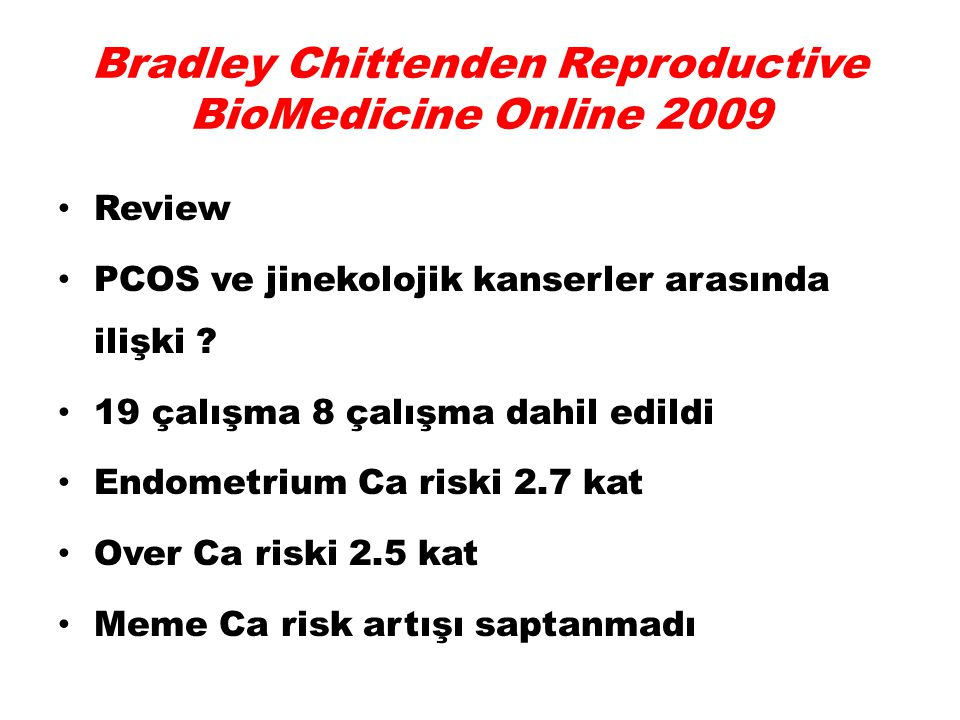 Bradley Chittenden Reproductive BioMedicine Online 2009