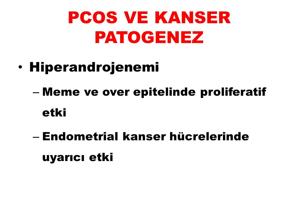 PCOS VE KANSER PATOGENEZ