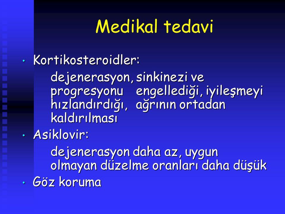 Medikal tedavi Kortikosteroidler: