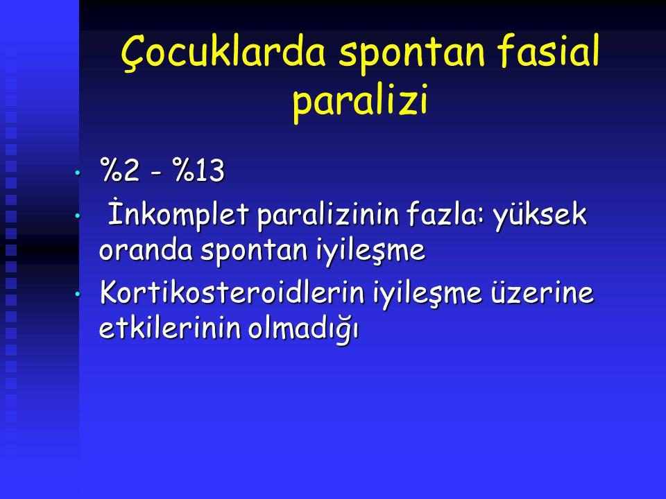 Çocuklarda spontan fasial paralizi