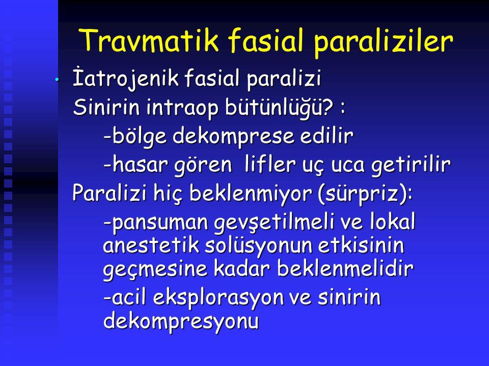 Travmatik fasial paraliziler