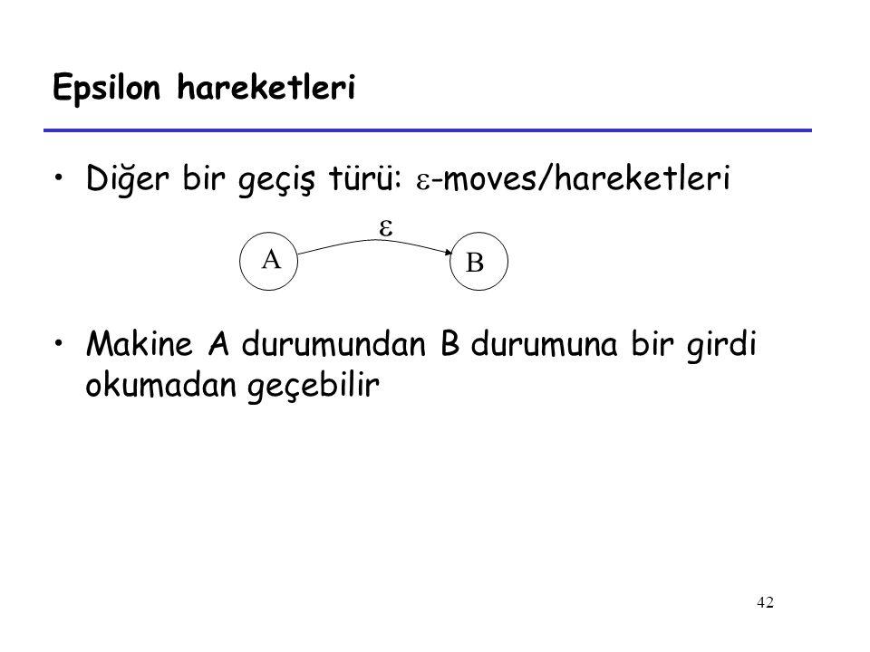 Diğer bir geçiş türü: -moves/hareketleri 