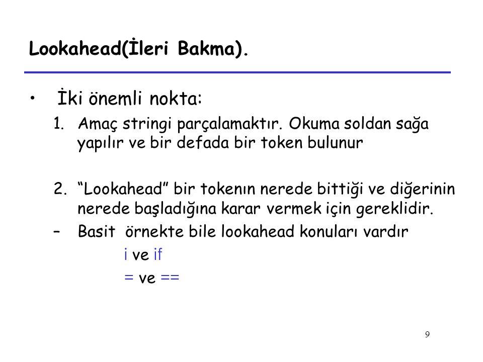 Lookahead(İleri Bakma).