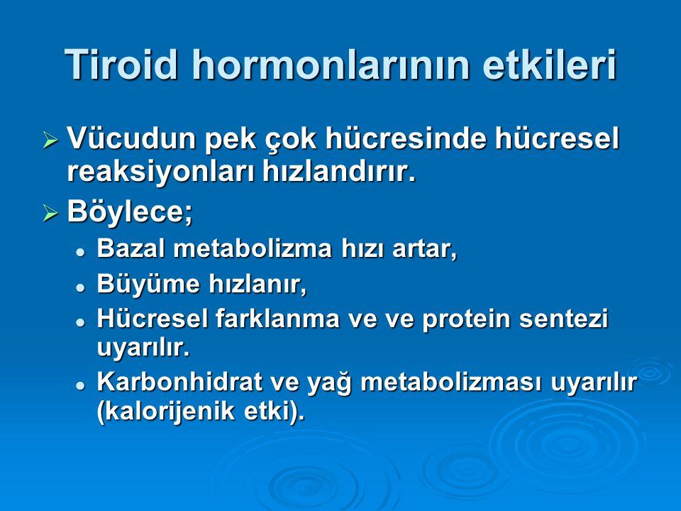 Tiroid hormonlarının etkileri