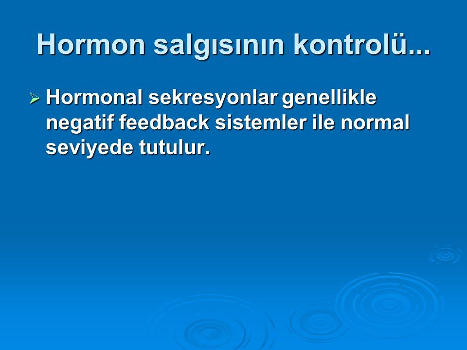 Hormon salgısının kontrolü...