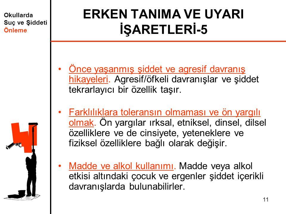 ERKEN TANIMA VE UYARI İŞARETLERİ-5
