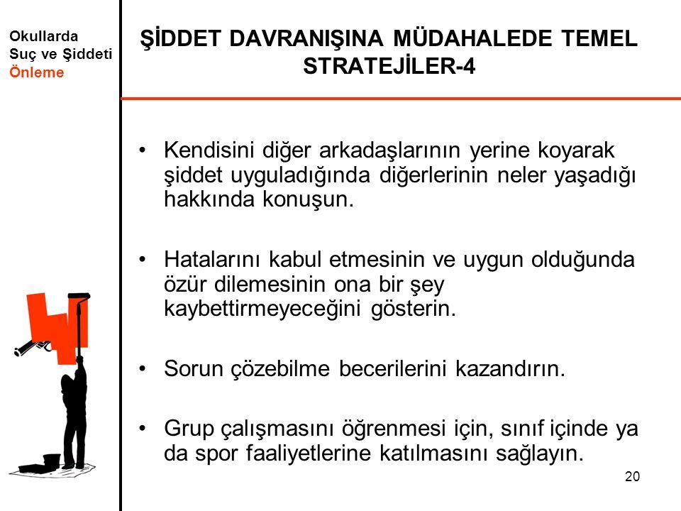 ŞİDDET DAVRANIŞINA MÜDAHALEDE TEMEL STRATEJİLER-4