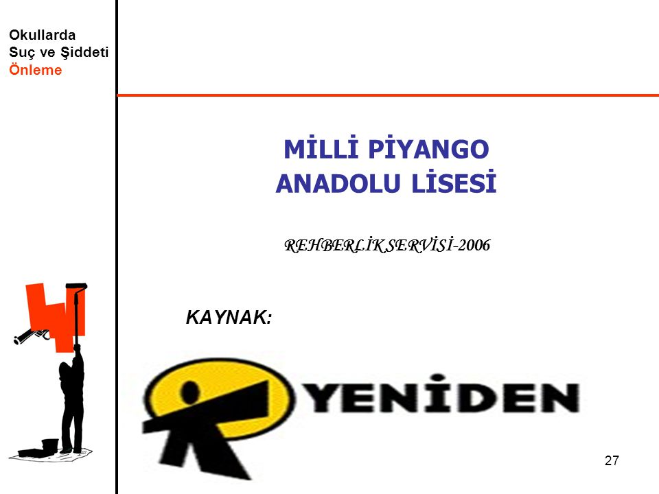 MİLLİ PİYANGO ANADOLU LİSESİ