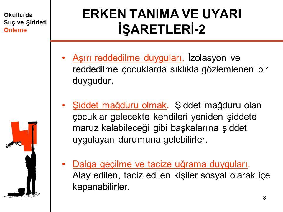 ERKEN TANIMA VE UYARI İŞARETLERİ-2
