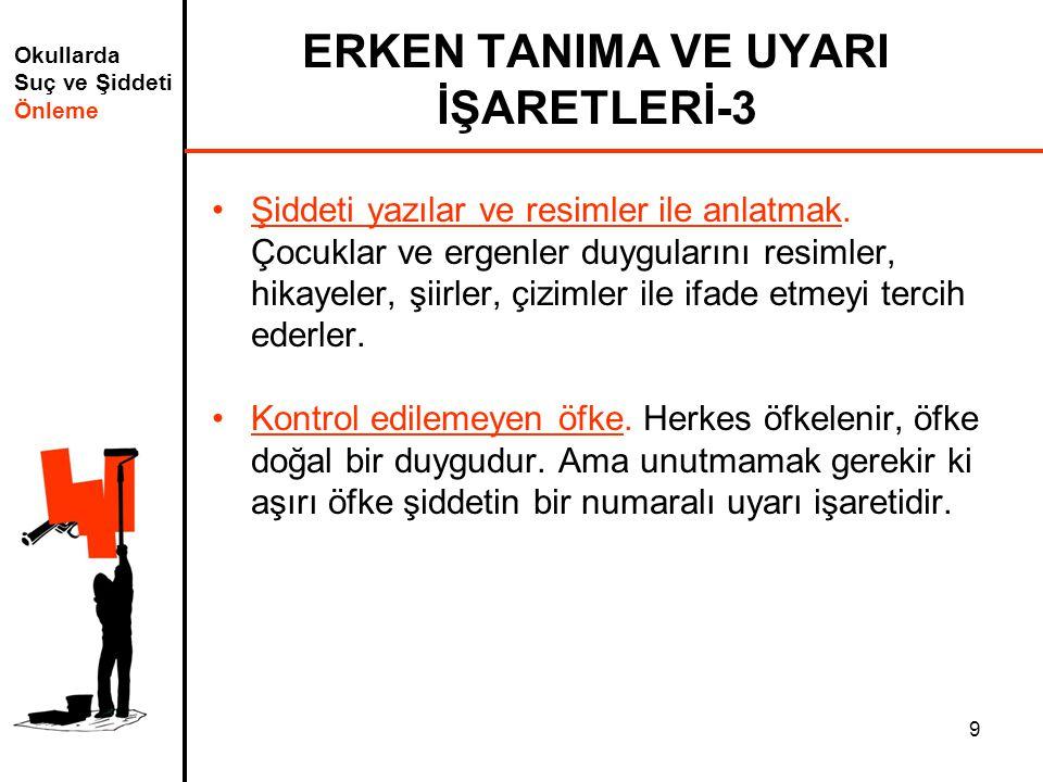 ERKEN TANIMA VE UYARI İŞARETLERİ-3
