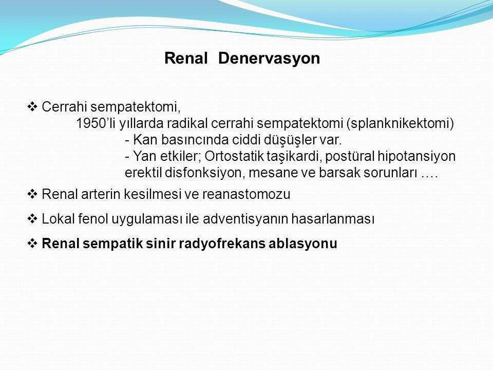 Renal Denervasyon Cerrahi sempatektomi,