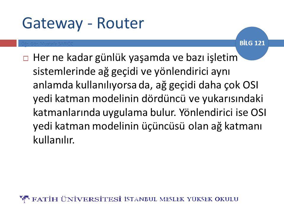 Gateway - Router