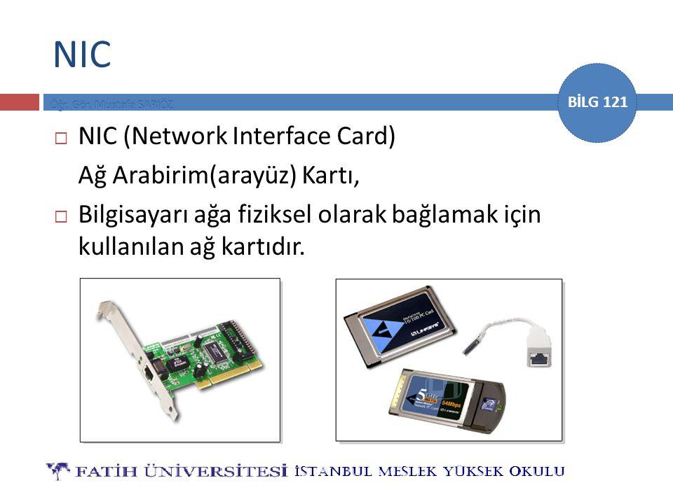 NIC NIC (Network Interface Card) Ağ Arabirim(arayüz) Kartı,