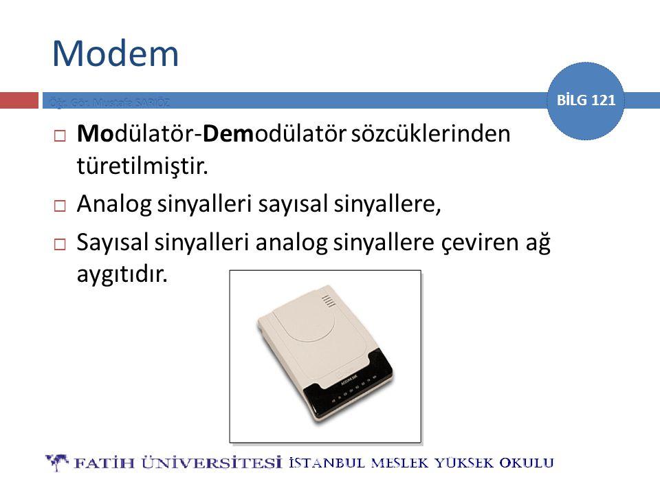 Modem Modülatör-Demodülatör sözcüklerinden türetilmiştir.