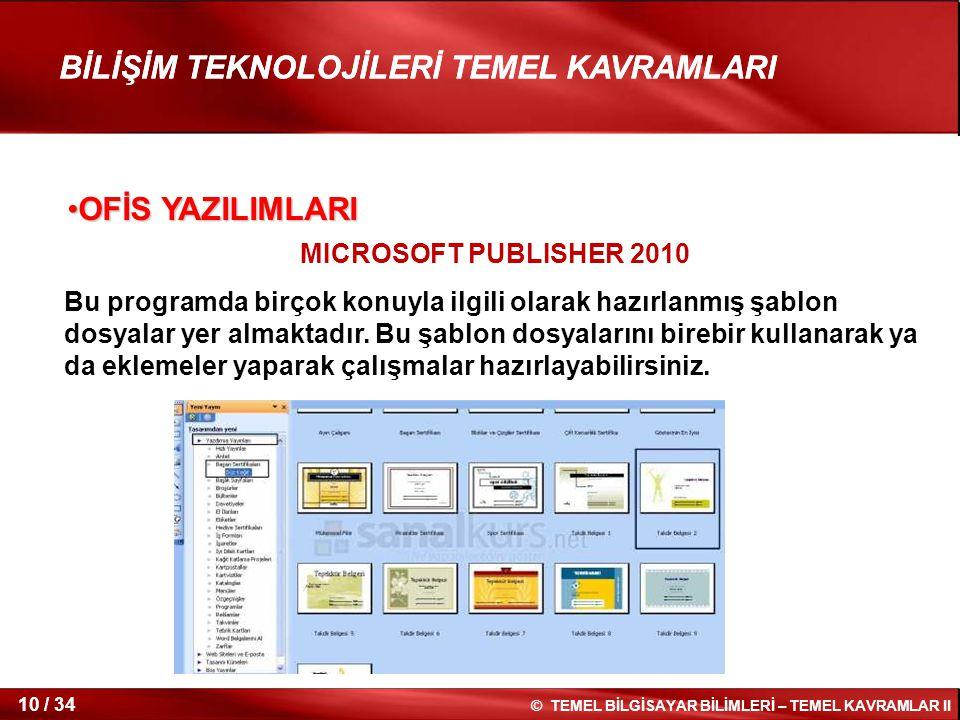 OFİS YAZILIMLARI MICROSOFT PUBLISHER 2010