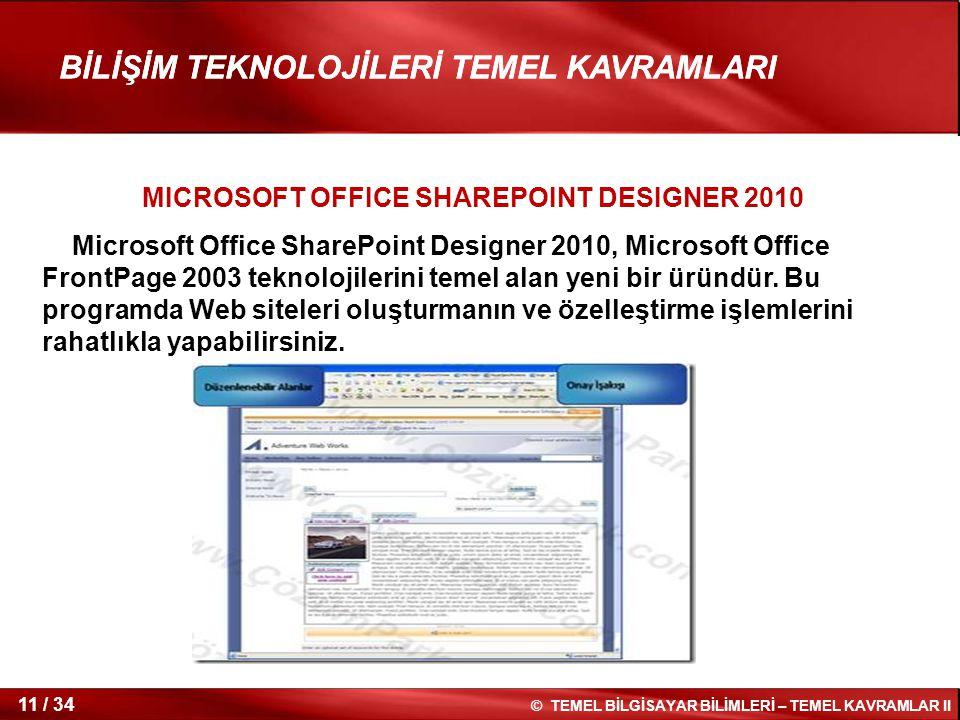 MICROSOFT OFFICE SHAREPOINT DESIGNER 2010