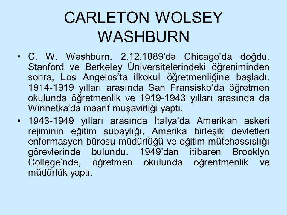 CARLETON WOLSEY WASHBURN